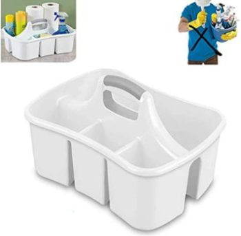 9. Bath Caddie White - Totes with Compartments and Handles