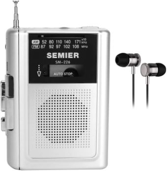9. SEMIER Portable Cassette Player Recorder