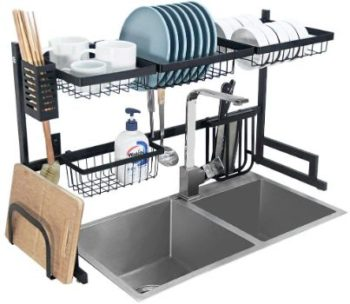 9. Stainless Steel Dish Drying Rack Over Sink