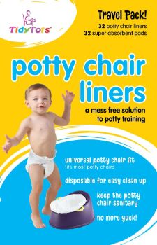 #9. Tidy Tots Disposable Potty Chair Liners for Toddlers and Kids