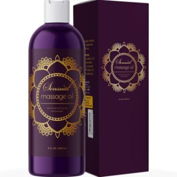 10. Sensual Massage Oil for Couples - No Stain Lavender Massage Oil