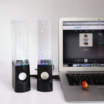 2. Aolyty Colorful LED Water Speaker (Black)