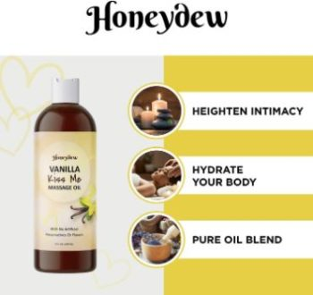 2. Honeydew Enticing Vanilla Massage Oil for Couples