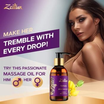 5. Zeitun Sensual Massage Oil for Couples 3.4 Oz