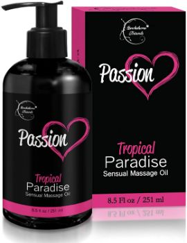 7. Brookethorne Naturals Passion Sensual Massage Oil
