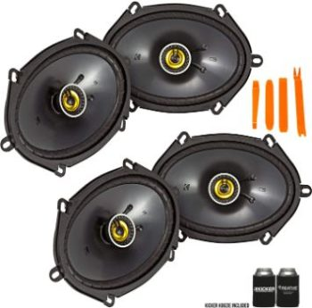 7. Kicker 46CSC684 Coaxial Speakers (2 Pairs)