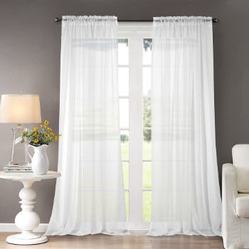 8. Dreaming Casa Solid Sheer Curtains Draperies