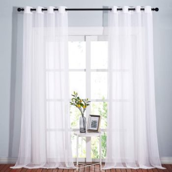 9. NICETOWN Sheer Window Curtain Panels