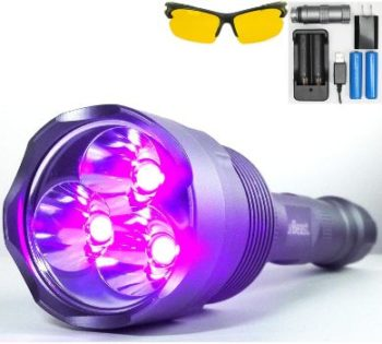 1. uvBeast NEW V3 385-395nm Black Light UV Flashlight
