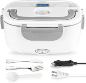 7. 2 in 1 Stainless Steel Electric Lunch Box