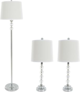 1. Table Lamps and Floor Lamp Set of 3