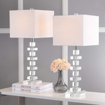 5. Safavieh Lighting Collection Deco 28-inch Table Lamp (Set of 2)